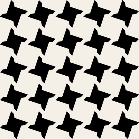 Seamless Black and White Geometric Star Tile Pattern Background
