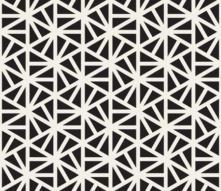 ベクターのシームレスな黒と白六角形三角形パターンの抽象的な背景