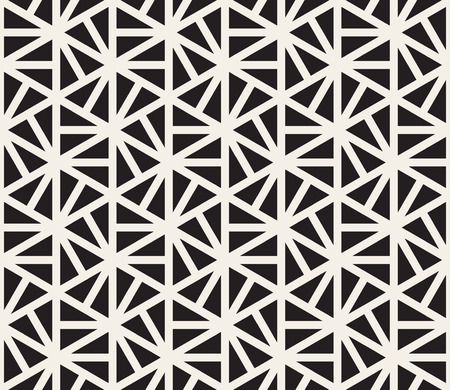 Vector Seamless Black And White Hexagonal Triangles Pattern Abstract Background