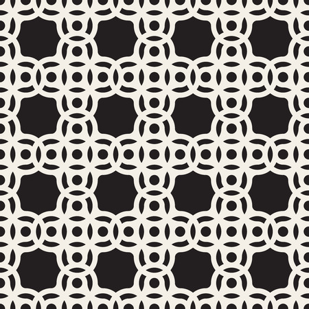 arc: Vector Seamless Black And White Circle Arc Square Pattern Abstract Background Illustration