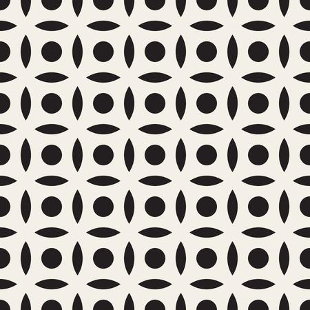 Vector Naadloze Zwart-wit Eenvoudige Circle Arc Vierkante Patroon Abstracte Achtergrond Stockfoto - 47484019