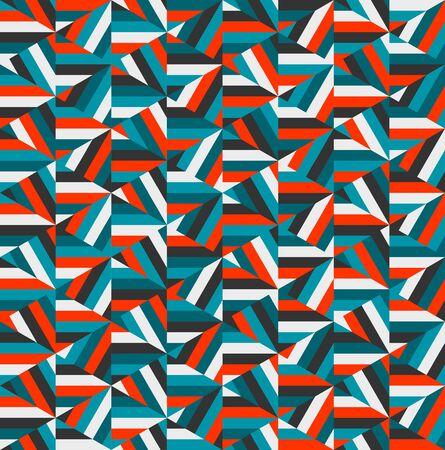 random: Vector Blue Red Triangle Random Stripes Geometric Pattern Abstract Background