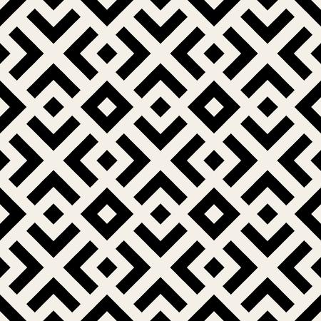 blanco y negro: Sin fisuras vector Negro geométrico blanco y las líneas del patrón Resumen Antecedentes