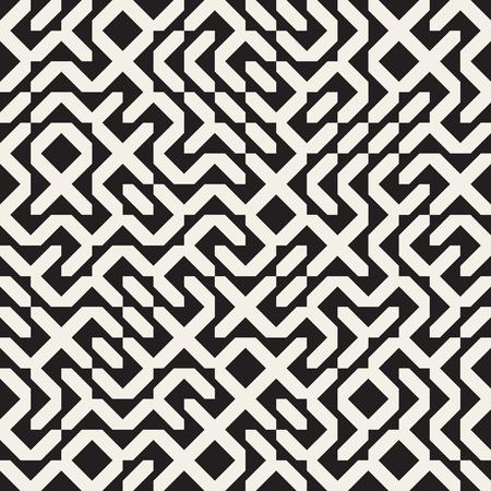 Grafik Seamless Schwarzweiß Unregelmäßige Geometrische Block-Muster ...