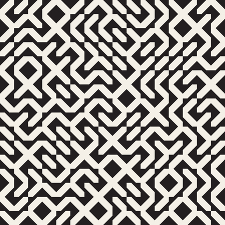 grid pattern: Vector Seamless Black And White Irregular Geometric Blocks Pattern Abstract Background