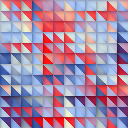 Vector Seamless Blue Gradient Red Triangle Grid plein patroon abstracte achtergrond