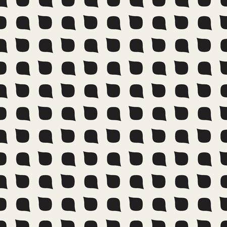 Vector Naadloze zwart-witte Afgeronde van het het Netpatroon van de Dalingsvorm Abstracte Achtergrond Stockfoto - 49169510
