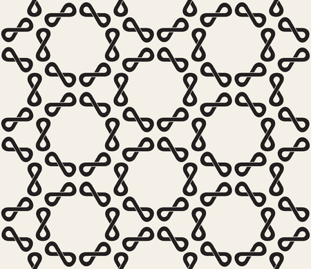 infinity sign: Vector Seamless Black and White Infinity Sign Rounded  Pattern Abstract Background