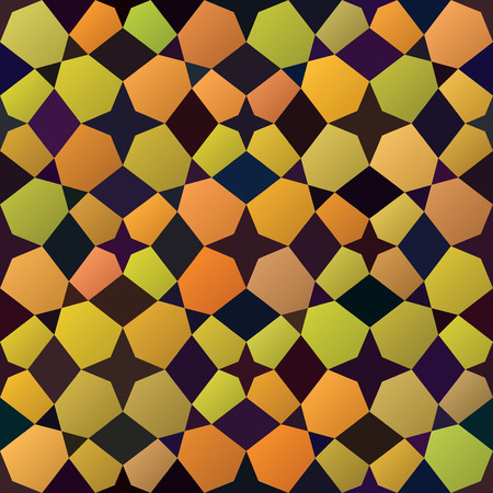 tiling: Vector Seamless Yellow Purple Stained Glass Tiling Geometric Pattern Abstract Background