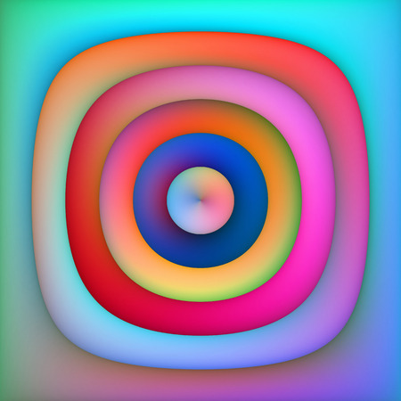 blue circles: Raster Multicolor Blue Pink Shades Gradient Concentric Circles Abstract Background