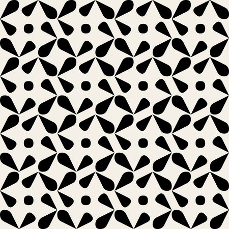 rounded: Seamless Black And White Rounded Drop Shape Circle Geometric Pattern Background