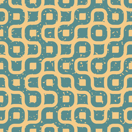 tan: Vector Seamless Wavy Lines Irregular Retro Grungy Blue Tan Pattern Abstract Background