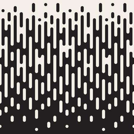 Nahtlose Schwarzweiß Unregelmäßige abgerundeten Linien Halbton Übergang Abstrakt Hintergrund-Muster Vektorgrafik