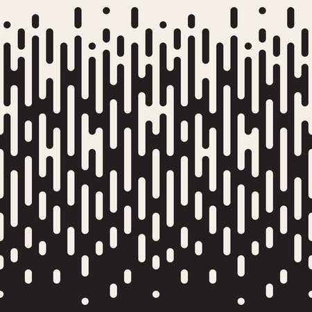 Seamless Black And White Irregular Rounded Lines Halftone Transition Abstract Background Pattern