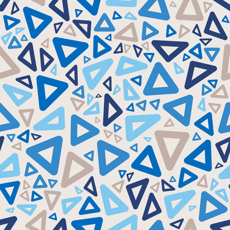 jumble: Seamless Blue Colors Jumble Rounded Triangle Geometric Retro Pattern Abstract Background