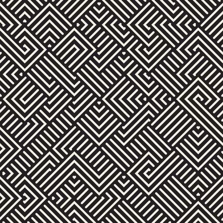irregular: Seamless Irregular Maze Lines Geometric Pattern Abstract Background Illustration
