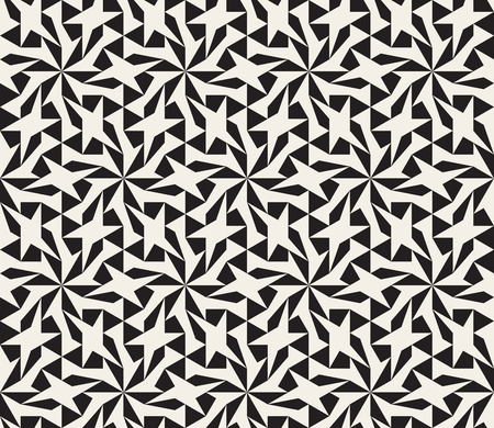 tessellation structure: Seamless Black and White Geometric Star Lattice Pattern Abstract Background