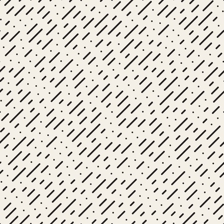 Seamless Black and White Diagonal Dashed Lines Rain Pattern Abstract Background
