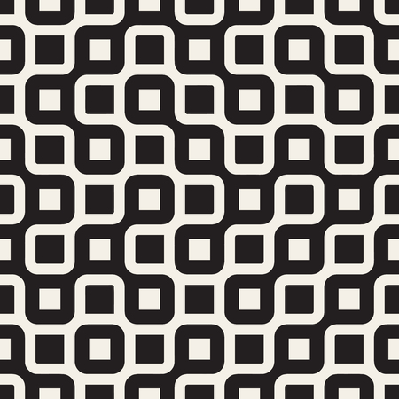 black lines: Seamless Black And White Rounded Irregular Maze Lines Pattern Abstract Background