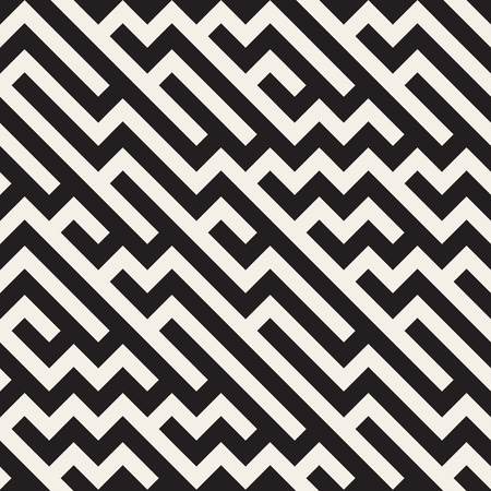 jumble: Seamless Black And White Jumble ZigZag Lines Diagonal Geometric Pattern Abstract Background