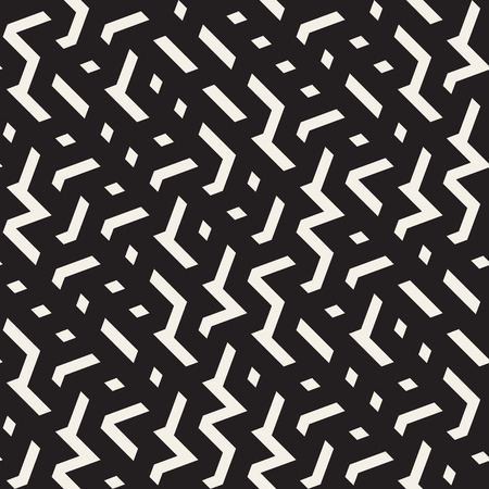 jumble: Seamless Black And White Jumble ZigZag Lines Pattern Abstract Background