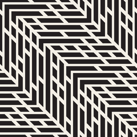 jumble: Seamless Black And White Jumble ZigZag Lines Diagonal Pattern. Abstract Geometric Background