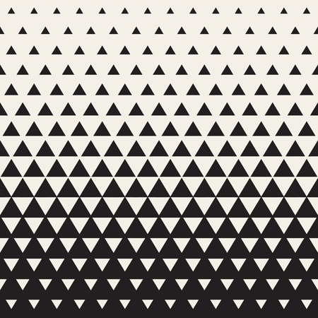 Seamless White to Black Color Transition Triangle Halftone Gradient Pattern. Abstract Geometric Background Design
