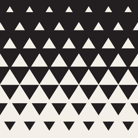 黒い色遷移三角形ハーフトーン グラデーション パターンにシームレスな白。抽象的な幾何学的な背景デザイン