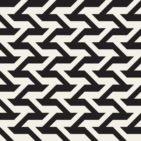 Seamless Black And White Geometric Lines Pattern. Abstract Geometric Background Design
