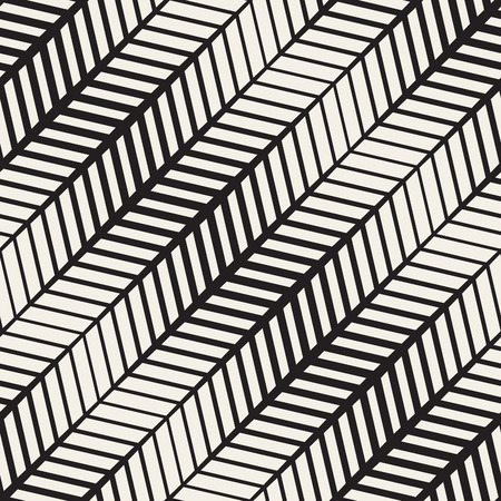 parquetry: Seamless Black And White Parquetry Pavement Halftone Lines Geometric Pattern. Abstract Geometric Background Design Illustration