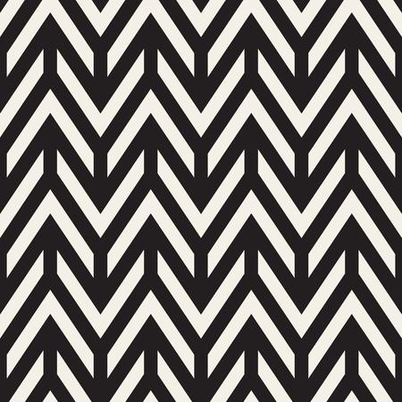horizontal lines: Vector Seamless Black And White Chevron ZigZag Horizontal Lines Geometric Pattern. Abstract Geometric Background Design Illustration