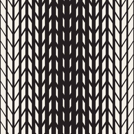 tire cover: Vector Seamless Black And White Tire Halftone Lines Geometric Pattern. Abstract Geometric Background Design