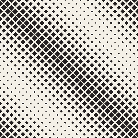 diagonal  square: Vector Seamless Black And White Diagonal Halftone Square Pattern. Abstract Geometric Background Design