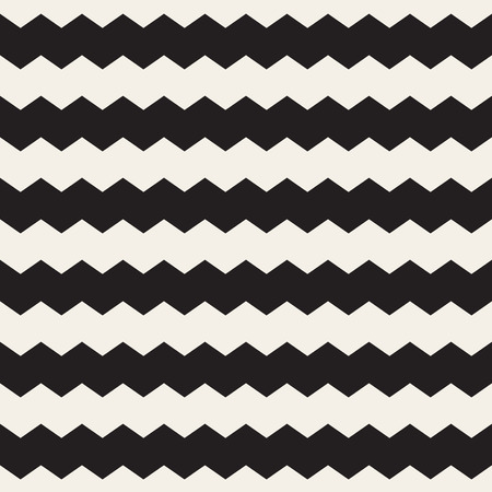horizontal lines: Vector Seamless Black and White ZigZag Horizontal Lines Geometric Pattern. Abstract Background Design Illustration