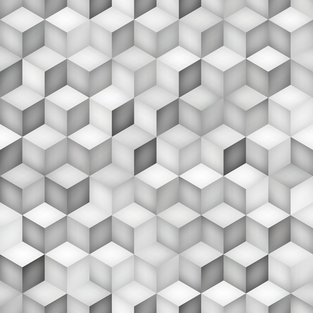 tiling: Seamless Greyscale Shades Gradient Rhombus Tiling Pattern. Abstract Geometric Background Design Illustration