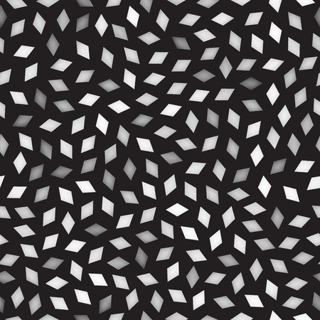 greyscale: Vector Seamless Greyscale Rhombus Jumble Pattern. Abstract Geometric Background Design