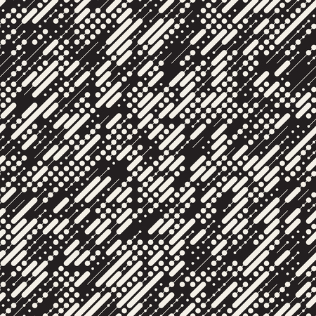 stripes seamless: Vector Seamless Black and White Irregular Diagonal Dash Lines Pattern. Abstract Geometric Background Design