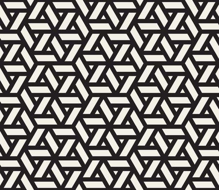 Reticolo di griglia in bianco e nero senza giunte di vettore. Disegno astratto sfondo geometrico