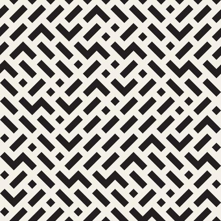 irregular shapes: Vector Seamless Black And White Irregular Jumble Shapes Pattern. Abstract Geometric Background Design Illustration
