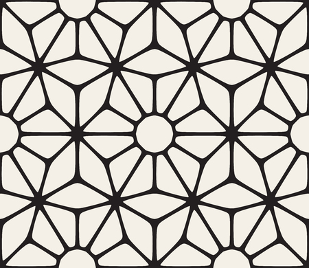 tessellation structure: Vector Seamless Black and White Lace Floral Pattern. Abstract Geometric Background Design