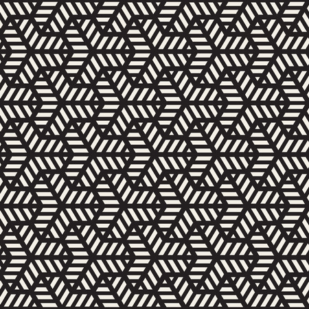 grid pattern: Vector Seamless Black And White Grid Pattern. Abstract Geometric Background Design Illustration