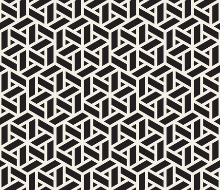 pavement: Vector Seamless Black And White Grid Pattern. Abstract Geometric Background Design Illustration