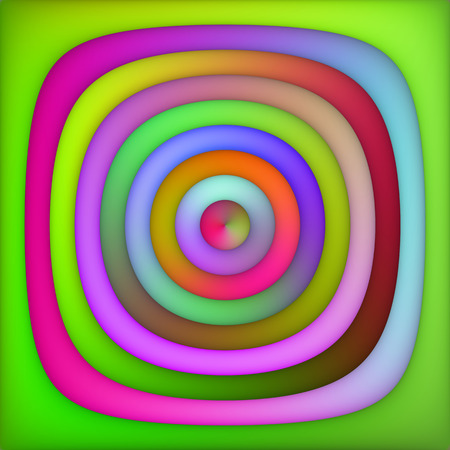 Raster Multicolor Green Pink Shades Gradient Concentric Circles Abstract Background Design Element
