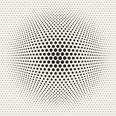 bloat: Vector Seamless Halftone Circles Bloat Effect Pattern. Abstract Geometric Background Design