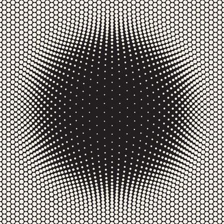 bloat: Vector Seamless Halftone Circles Bloat Pattern. Abstract Geometric Background Design.