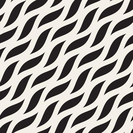 Vector naadloze diagonale golvende vormen patroon. Abstract geometrisch achtergrondontwerp.