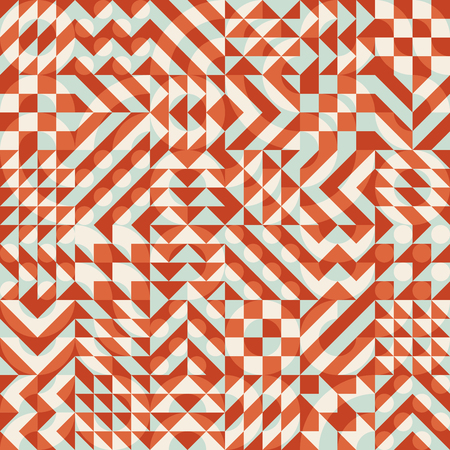 Vector Seamless Color Overlay Irregular Geometric Blocks Square Quilt Pattern Abstract Background