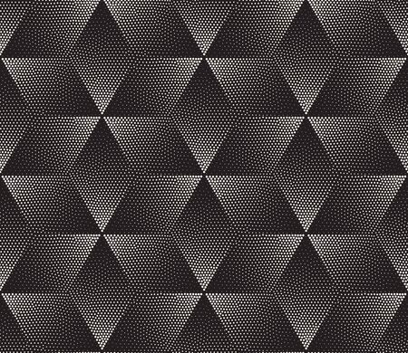 gradient: Vector Seamless Black and White Stippling Halftone Gradient Rhombus Pattern. Abstract Geometric Background Design Illustration