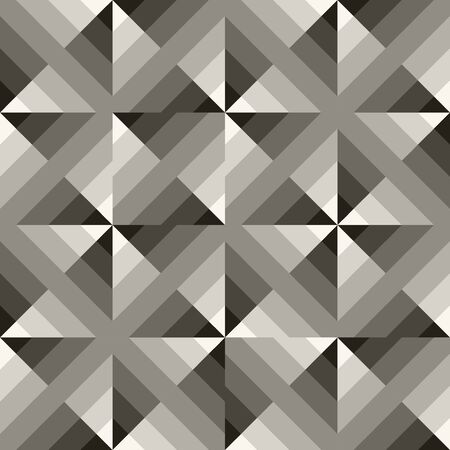Vector Seamless Black  White Geometric  Square Gradient Diagonals Pattern Abstract Background Illustration
