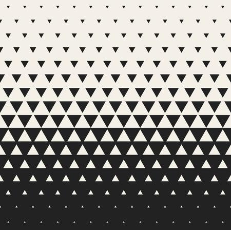 ベクトル シームレスな黒と白の三角形のハーフトーン グリッド グラデーション パターン幾何学的な抽象的な背景をモーフィング  イラスト・ベクター素材